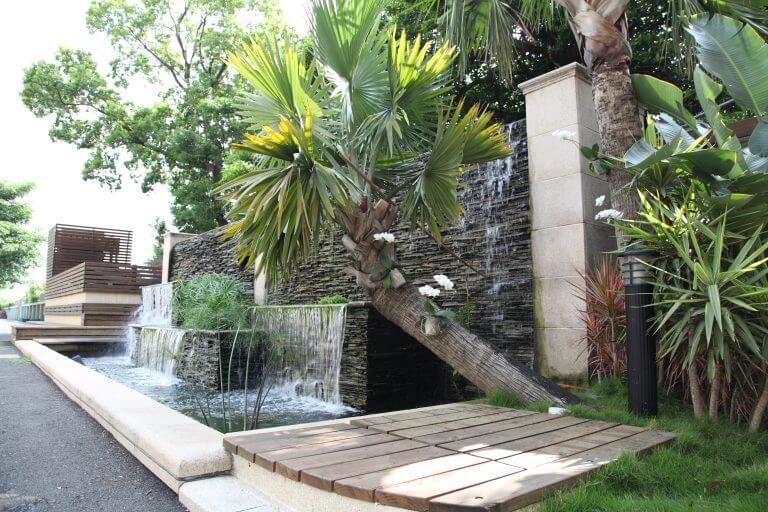 《生態壁泉》是下課舒放身心的地方